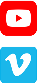 YouTube and Vimeo icons
